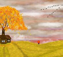 Autumn illustration by Nika Lerman