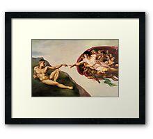 The Creation of John Framed Print