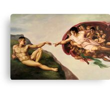 The Creation of John Canvas Print