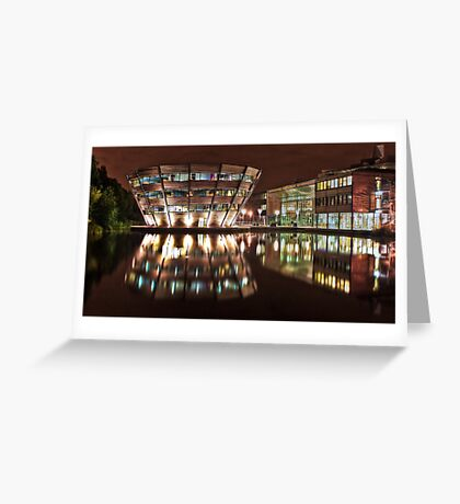 Jubilee Campus, Nottingham, at Night Greeting Card