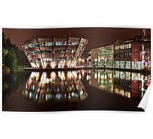Jubilee Campus, Nottingham, at Night Poster