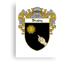 Brady Coat of Arms/Family Crest Canvas Print