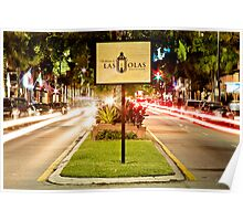 Las Olas Boulevard Poster