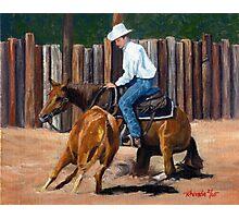 Quarter Horse Cutting Horse Photographic Print