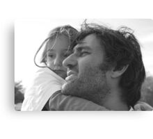 Daddy & Daughter Canvas Print