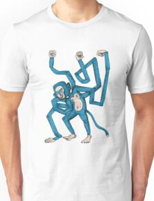 City hipster blue monkey Unisex T-Shirt