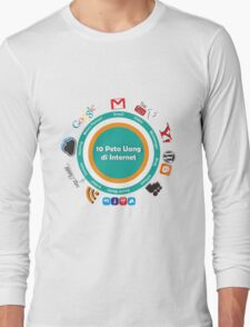 10 Peta Uang di Internet Long Sleeve T-Shirt