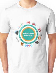 10 Peta Uang di Internet Unisex T-Shirt