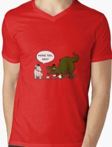 More tea, Rex? Mens V-Neck T-Shirt