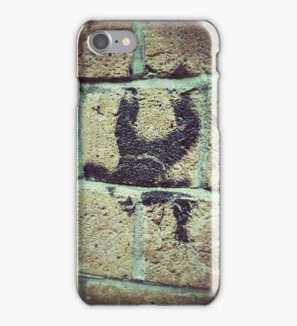Man Falling Street Art Work iPhone Case/Skin