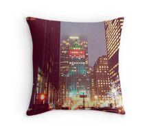 Snowy NYC Throw Pillow