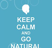 Keep Calm & Go Natural Phone Case - Pattern Blue by hhjourney