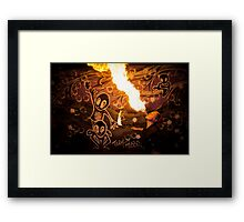 Katy Cherry firebreathing Framed Print