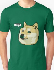 wow pixel shibe doge Unisex T-Shirt