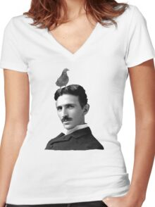 Tesla & Pigeon Women's Fitted V-Neck T-Shirt