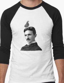 Tesla & Pigeon Men's Baseball ¾ T-Shirt