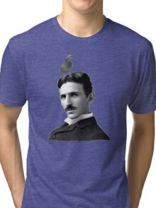 Tesla & Pigeon Tri-blend T-Shirt