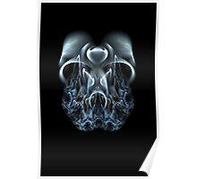 Blue Flame Skull Poster
