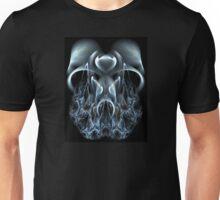 Blue Flame Skull Unisex T-Shirt