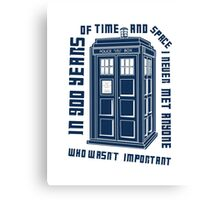 Doctor Who 900 years of time and space Canvas Print