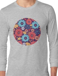 Colorful bouquet flowers pattern Long Sleeve T-Shirt