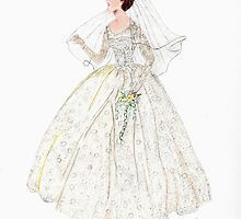 Here Comes the Bride by Linda Ginn Art