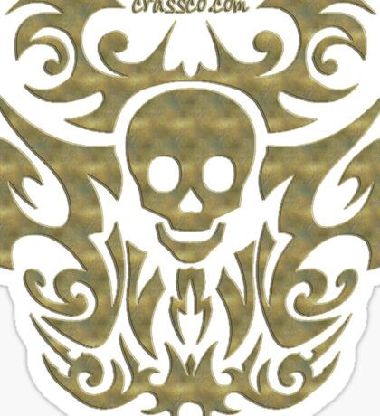 skull tattoo - mystical, humor, funny, underground Sticker