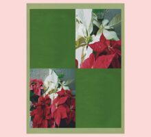 Mixed color Poinsettias 3 Blank Q5F0 One Piece - Long Sleeve