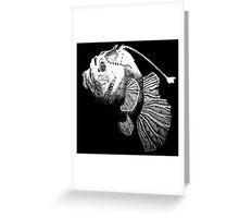Ink Angler Fish Greeting Card