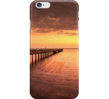 Sunset/sundusk over harbor iPhone Case/Skin