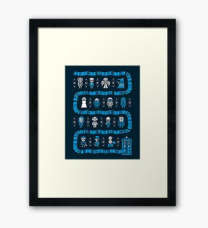 Fandom Guardians of the Galaxy, Star Wars, and Dr. Who Framed Print