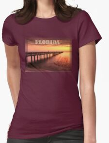 Sunset/sundusk over harbor T-Shirt