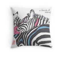 Dazzle of Zebras (v 2) Throw Pillow