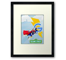 super grover  Framed Print