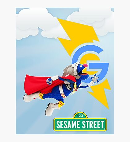 super grover  Photographic Print