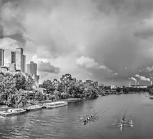 View of Melbourne's City towards the MCG by Julie Begg