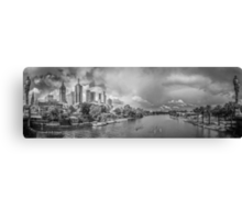 View of Melbourne's City towards the MCG Canvas Print