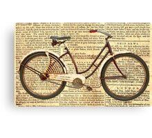 Newspaper Cycle Canvas Print