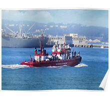 San Francisco Fire Department on the water Poster