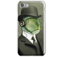 cabbage face in a bowler iPhone Case/Skin