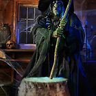 Scary Old Witch with a Cauldron art photo print by ArtNudePhotos