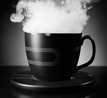 Steaming Tea Cup art photo print by ArtNudePhotos