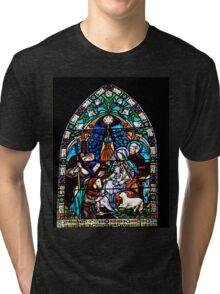 Nativity Window At Charmouth Church  Dorset Tri-blend T-Shirt