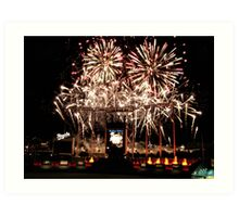Fireworks at Kauffman Stadium Art Print