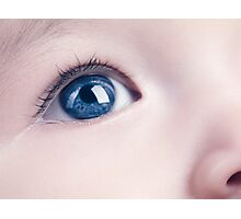 Closeup of a Baby's Blue Eye art photo print Photographic Print