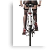 Sexy Woman Riding a Bike art photo print Canvas Print