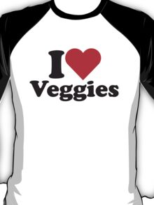 I Heart Love Veggies T-Shirt