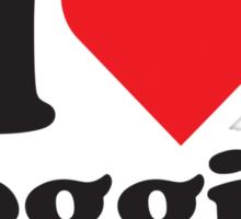 I Heart Love Veggies Sticker