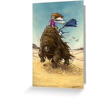 The Desert Wind Greeting Card