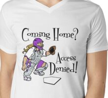Access Denied, purple Mens V-Neck T-Shirt